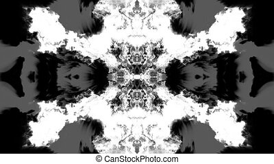 Rorschach Ink Bleed Animations - Three animated ink blot...