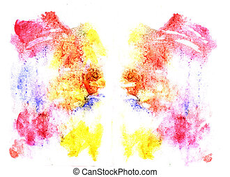 Rorschach inkblot test illustration