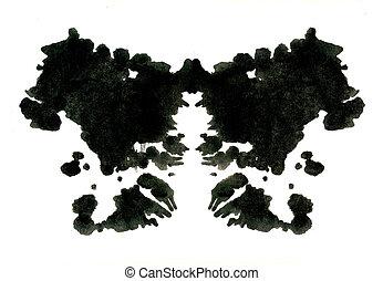 Rorschach inkblot test illustration, random abstract ...