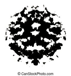 Rorschach inkblot test illustration, random abstract design