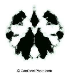 Rorschach inkblot test illustration, random abstract design