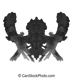 Rorschach inkblot test isolated