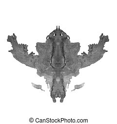Rorschach inkblot test isolated