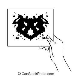Rorschach test coloring book vector illustration - Rorschach...