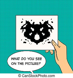Rorschach test pop art vector illustration - Rorschach test...