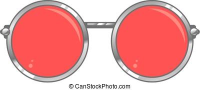 rosa óculos coloridos