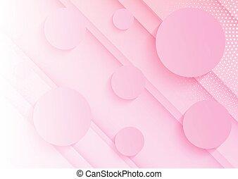 rosa, 0909, astratto, cerchi, fondo