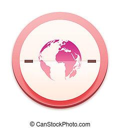 rosa, 300, serie, sopra, icona, selectable, intero
