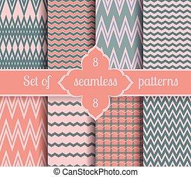 rosa, año, conjunto, geométrico, 2016, patterns., cuarzo, colores, serenidad