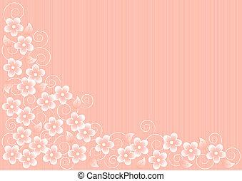 rosa, abstrakt, blumen, hintergrund