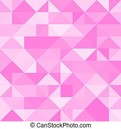 rosa, abstrakt, triangel, bakgrund