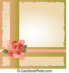 rosa, abstratos, fundo, vermelho