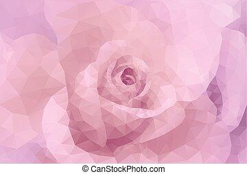 rosa, abstratos, triangulo, polígono