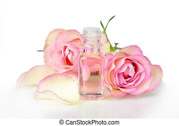 rosa, aceite, esencial
