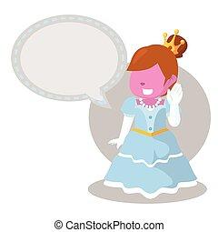 rosa, allegro, callout, principessa