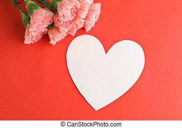 rosa, amor, madre, clavel, mensaje, día
