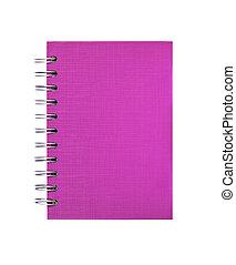 rosa, anteckningsbok