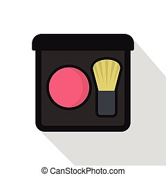rosa, appartamento, stile, spazzola, icona, arrossire