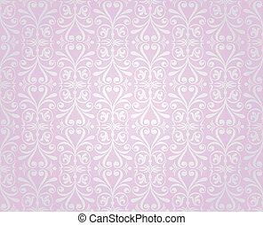rosa, &, argento, vendemmia, carta da parati