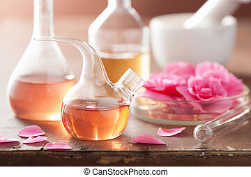 rosa, aromatherapy, alchimia, fiori