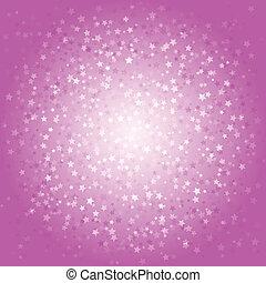 rosa, astratto, fondo, stelle