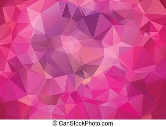 rosa, astratto, geometrico, fondo