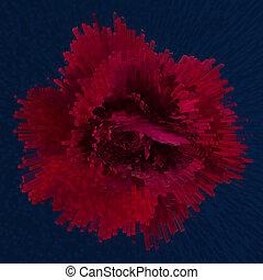 rosa, astratto, rosso