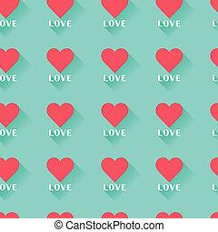 rosa, astratto, valentine, cuore, seamless, pattern.