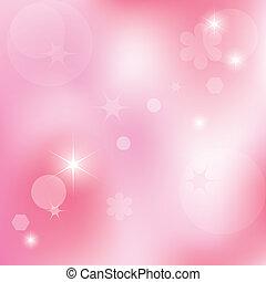 rosa, astratto, vettore, fondo