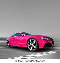 rosa, auto