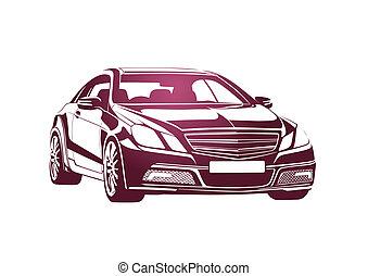 rosa, automobile, sporgenza grande
