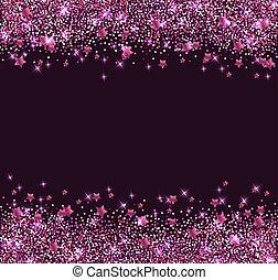 rosa bakgrund, stjärnor, lysande