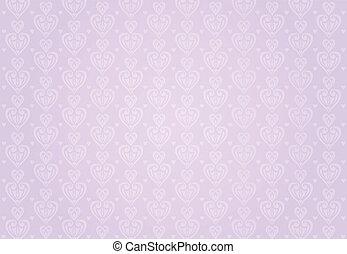rosa, &, bakgrund, violett