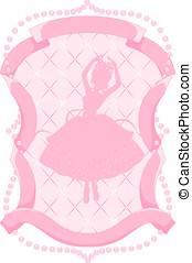 rosa, ballerina, cornice
