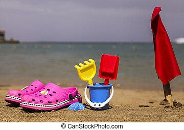 rosa, beach.beach, shoes, primer plano, azul, capirotazo,...
