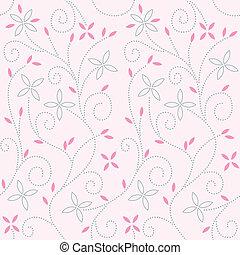 rosa, bebé, patrón del remolino