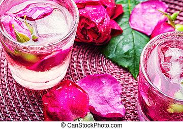 rosa, bebida, alcohólico