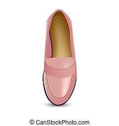rosa, bighelloni, scarpe