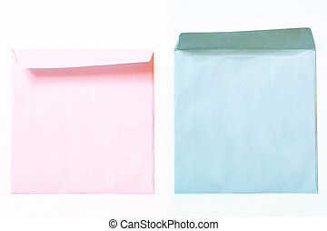 rosa, blå, överdragen