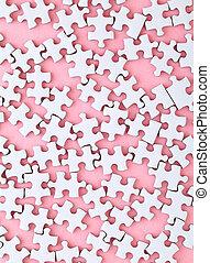 rosa, blanco, rompecabezas, plano de fondo