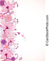 rosa, blommig, bakgrund