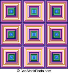 rosa, blu, tegole, quadrato, illustration., colorare, seamless, verde