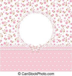 rosa, blumen-, hintergrund