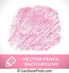 rosa, blyertspenna, skiss, pattern., bakgrund
