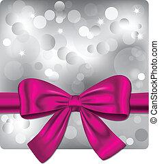 rosa, bokeh, hintergrund, geschenkband