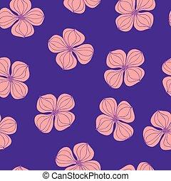 rosa, botanico, pianta, fiore, fondo, colorito, cornus, immagine, seamless, dogwood