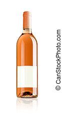rosa, botella, vino