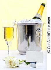 rosa, branca, champanhe