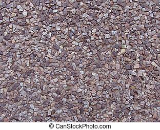 rosa, brauner, stein, graue , lila, kieselsteine, betonwand