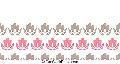 rosa, brauner, tulpen, streifen, seamless, hintergrundmuster, horizontal